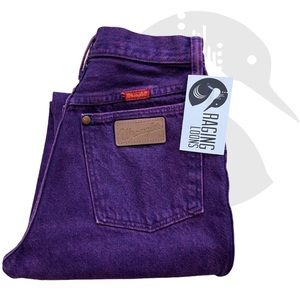 Vintage Wrangler Purple Acid Wash Wedgie Jeans 2